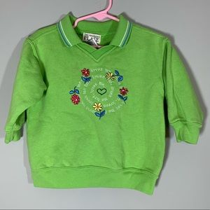 Vintage Children's Place Lime Green Sweater